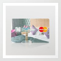 Hotel Room in London:Close to Nike Town Credit Card Art Print
