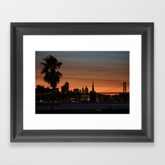 city by the bay  Framed Art Print