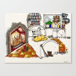 Books Coming to Life: Beauty and the Beast Canvas Print