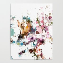 Decorative Subdued Pastel Pattern Abstract Poster