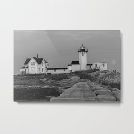 Eastern point Lighthouse Black and White aug2017 Metal Print