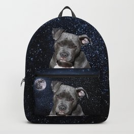 Pitbull Terrier and Moon Backpack