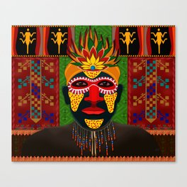 African Tribesman 1 Canvas Print