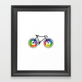 Geometric Bicycle Framed Art Print