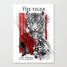 In me the tiger sniffs the rose Canvas Print