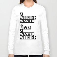 A Weekend Water (Black) Long Sleeve T-shirt