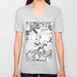 Ghibli-Inspired Collage Unisex V-Neck