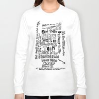 lyrics Long Sleeve T-shirts featuring Lettering Lyrics by Insait