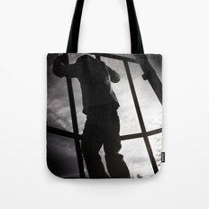 Climbing the Grid Tote Bag