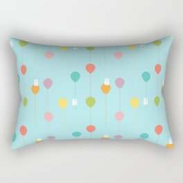 Fluffy bunnies and the rainbow balloons pattern Rectangular Pillow