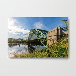 Tyngsborough Bridge over the Merrimack River, Massachusetts Metal Print