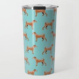 Irish Terrier dog breed pet pattern dog art pet friendly terriers portrait Travel Mug