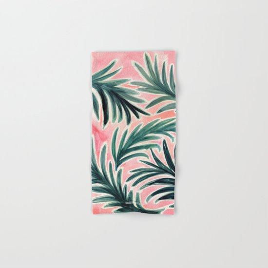 Lush Tropical Palm Hand & Bath Towel