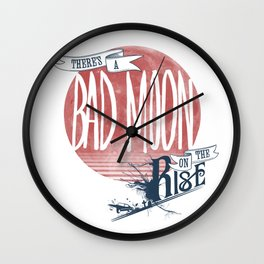 Bad Moon Rising - Supernatural  Wall Clock