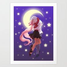 Sailor Moon - Helios and Chibiusa Art Print