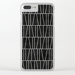 Mid-Century Modern Pattern No.5 - Black Concrete Clear iPhone Case