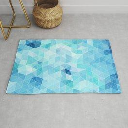 blue triangles Rug