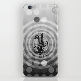 Gray Orbs iPhone Skin