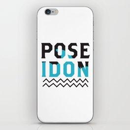 Poseidon logo iPhone Skin