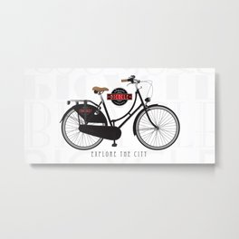 Classic bicycle company with an old city style bike Metal Print