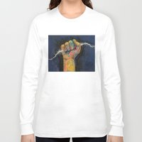 lightning Long Sleeve T-shirts featuring Lightning by Michael Creese