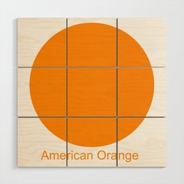 American Orange Wood Wall Art