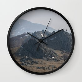 Old mountains landscape Wall Clock