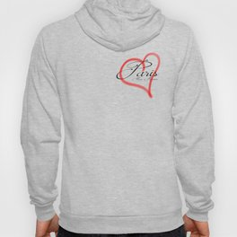 Paris Mon Amour in a red heart - Vector Hoody