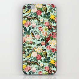 Floral and Birds III iPhone Skin