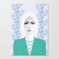 army Canvas Prints featuring Army Girl by EISENHART