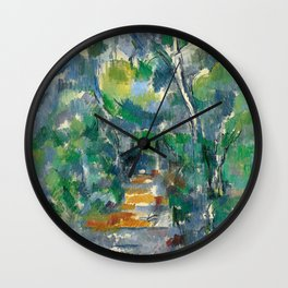 1900 - Paul Cezanne - Forest Scene Wall Clock