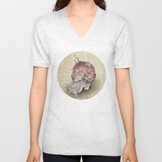 In which a snail is most festive this christmas  Unisex V-Neck