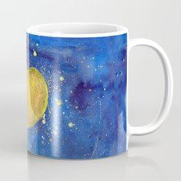 Heart shape Full Moon in the Universe Coffee Mug