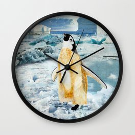 Penguin Chick In The Arctic Wall Clock