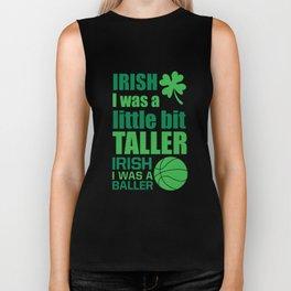 Irish Me Was a Little Bit Taller Leprechaun T-Shirt Biker Tank