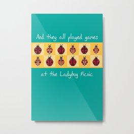 Ladybug Picnic Metal Print