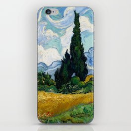 Vincent Van Gogh Wheat Field With Cypresses iPhone Skin