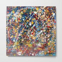 Colored Rain Drops Metal Print