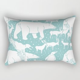 Polar gathering (peppermint) Rectangular Pillow