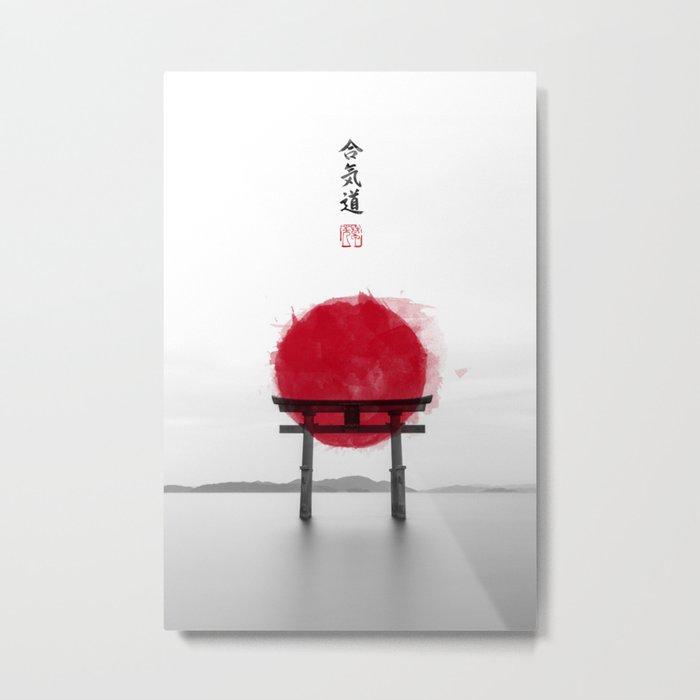 JAPANESE HINOMARU FLAG SIGNS Metal Print