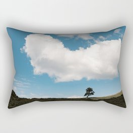 New-Zealand - Bay of Island, the hole. tree on a mountain with cloud & blue sky Rectangular Pillow