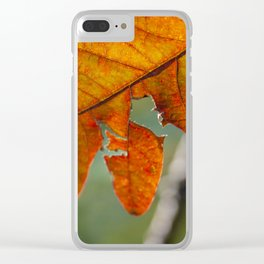 Change in Seasons (Fall Leaves) Clear iPhone Case