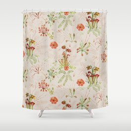 Carnivorous Floral Shower Curtain