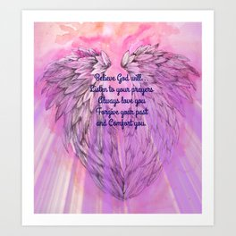Believe God Will... Art Print