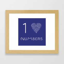 I heart Numbers Framed Art Print