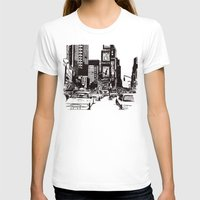 new york T-shirts featuring New York New York by Bianca Green