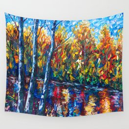 Dreaming Forest with Palette Knife Wall Tapestry