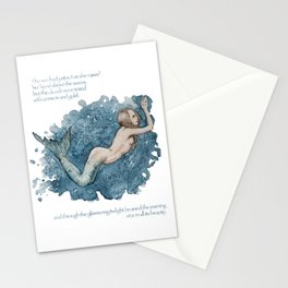 Mermaid swimming in the ocean Stationery Cards