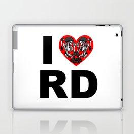 I heart roller derby Laptop & iPad Skin