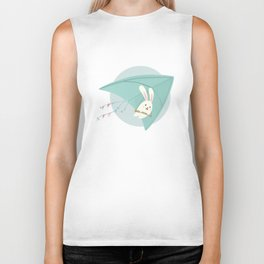 Let's fly to the sky Biker Tank